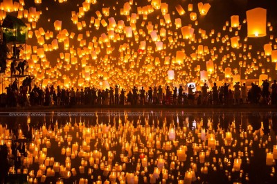 Floating Lanterns Festival in Chiang Mai, Thailand